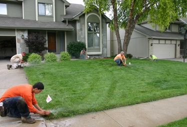 Jack and his team are on working on a Bakersfield sprinkler repair